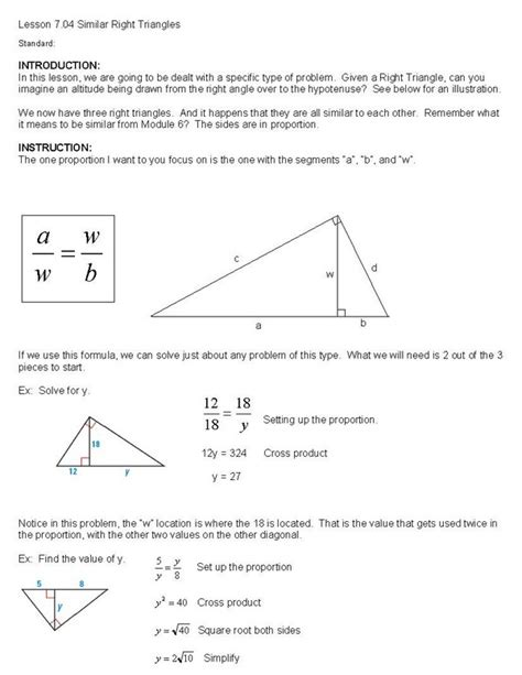 Similar Right Triangles Worksheet Answers by Geometry Similar Right Triangles Worksheet