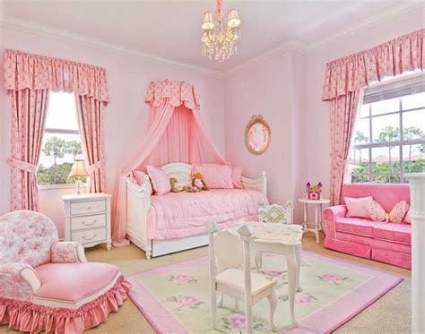 Pink Themed Bedroom - stylish girls pink bedrooms ideas