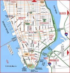 map of manhattan island road map of lower manhattan manhattan new york