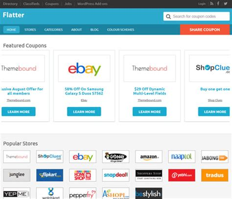 hot themes coupon flatter premium child theme for coupon sites wp solver