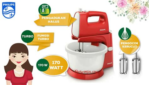 Mixer Philips 170 Watt harga spesifikasi philips stand mixers hr 1559 10 170