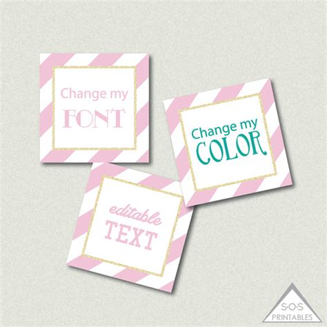 printable gift tags pink pink and gold glitter labels editable gift tags editable