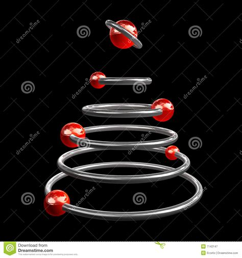 space christmas tree royalty free stock photography