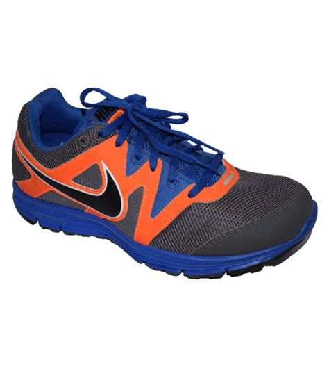 nike lunarfly black and orange sports shoes price in india