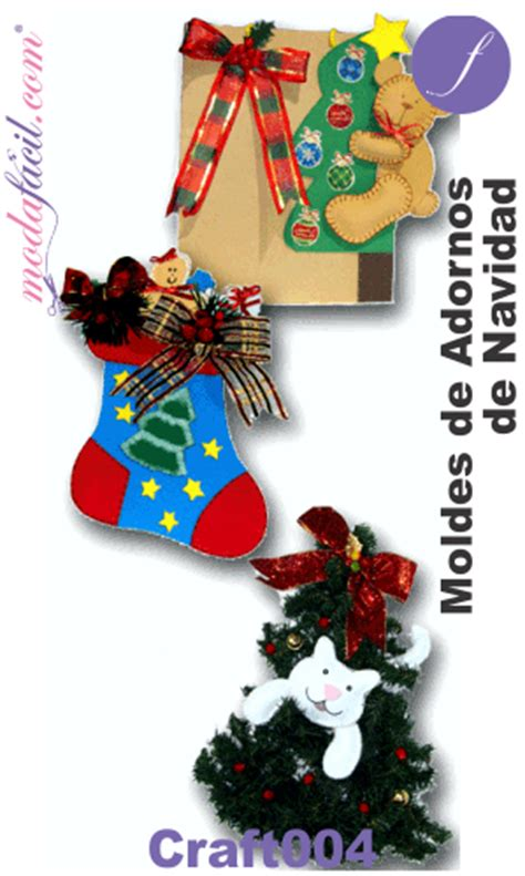 Moldes De Adornos Fieltro Para Arbol | descarga 3 moldes de adornos navide 241 os en foamy y fieltro