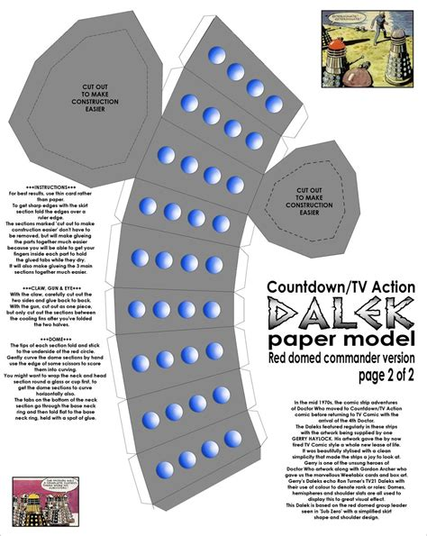 Papercraft Dalek - paper comic style dalek pt2 by gfoyle on deviantart