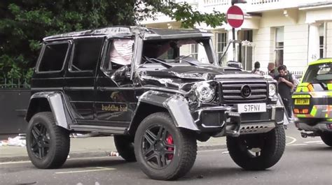 4 G Big 2 update brabus g500 4x4 178 rolls gets wrecked after