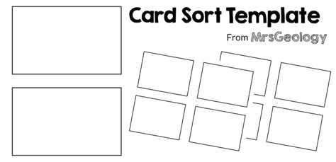 card sort template 4x2 make your own card sort
