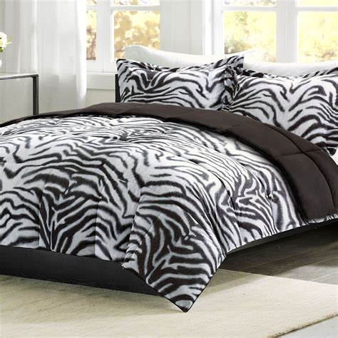 zebra bed set mainstays leopard print bedding comforter mini set bed