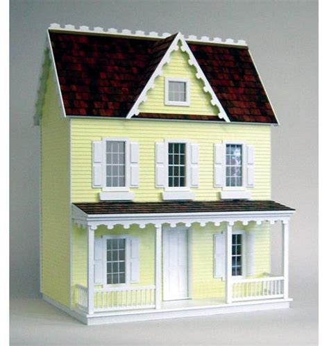 farmhouse kit vermont farmhouse jr unfinished dollhouse kit from