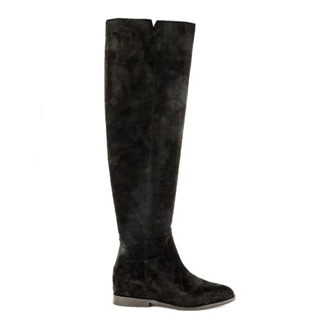 shop new jess boots from ash footwear in black suede