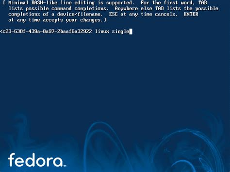 resetting linux password step by step to reset change root password on fedora 10
