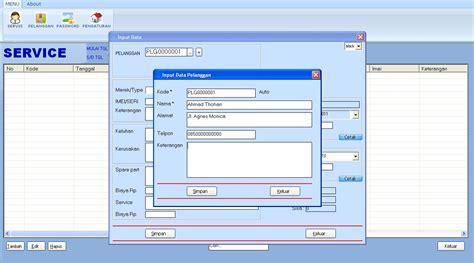 desain meja servis hp software service hp