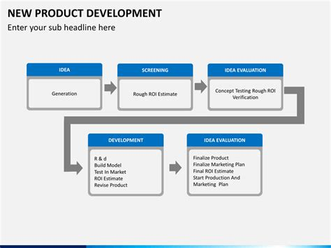 product development template new product development powerpoint template sketchbubble