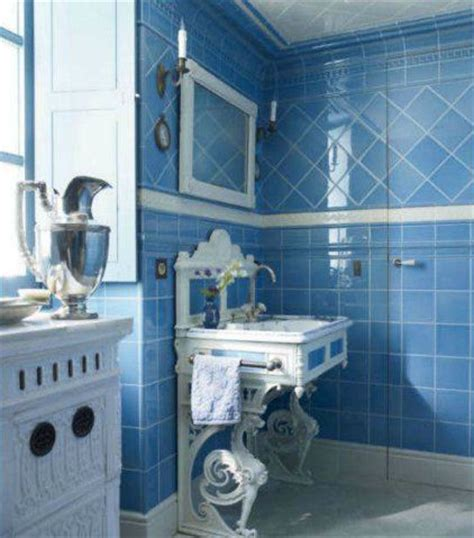 cornflower blue bathroom traditional style bathroom with cornflower blue tiles and