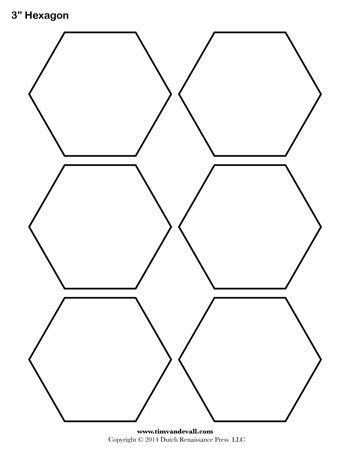 3 inch hexagon template hexagon template 3 inch tim s printables