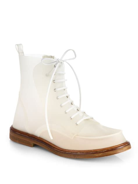 martin margiela shoes mm6 by maison martin margiela plastic combat boots in