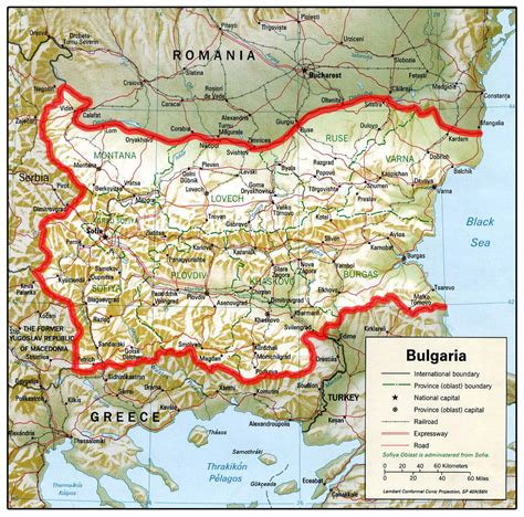 map of bulgaria map of bulgaria republic of bulgaria maps mapsof net