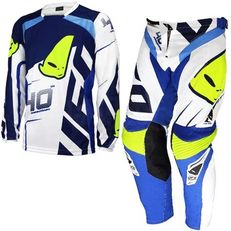 ufo motocross gear 2017 ufo 40th anniversary kit combo white blue