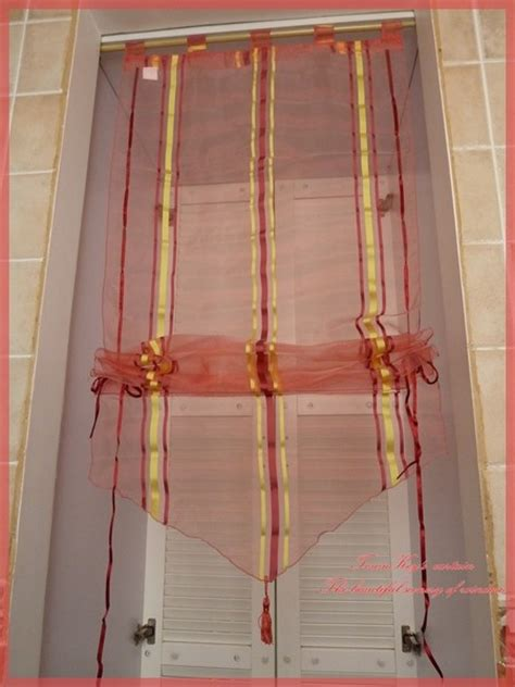 pull up drapes stripes sheer pull up curtain bath kitchen 60x160cm a ebay