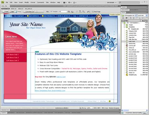 templates for web pages dreamweaver bubbly blue template