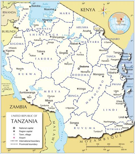 map of tanzania map of tanzania administrative regions of tanzania tanzania is