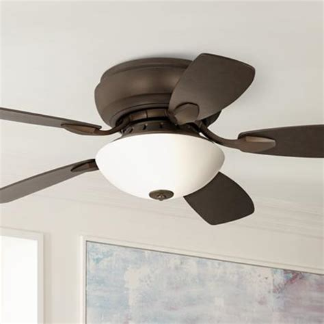 44 hugger ceiling fan with light 44 quot casa habitat rubbed bronze hugger ceiling fan