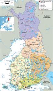 detailed political map of finland ezilon maps