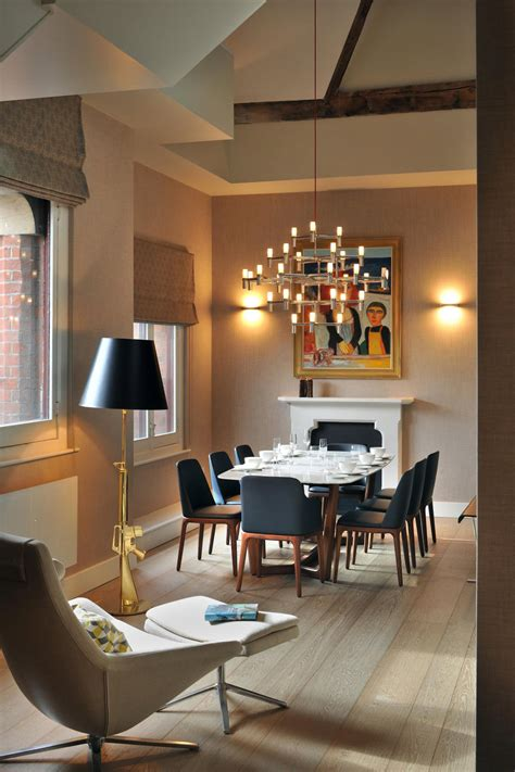 dinner table lighting dining table lighting st pancras penthouse apartment in