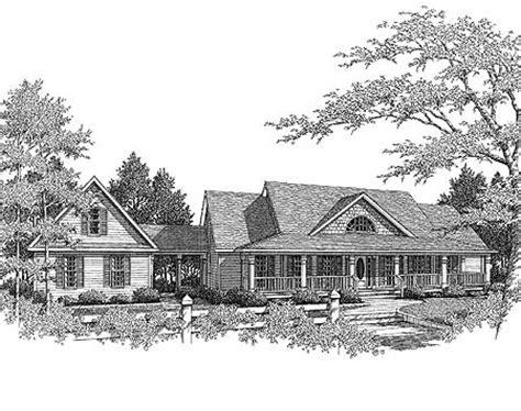 House Plans With Breezeways by Country Farmhouse With Breezeway 3611dk Architectural
