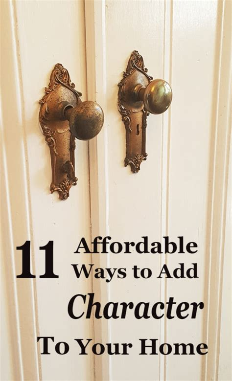 11 affordable ways to add character to your home the honeycomb home