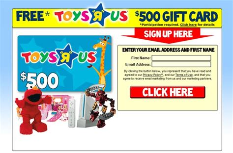 Toys R Us Email Gift Card - free toys r us gift card 500 free gift cards pinterest