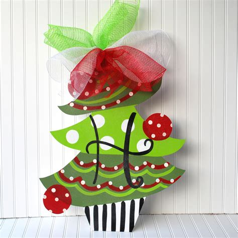 decoration hangers unfinished wood shape tree door hanger