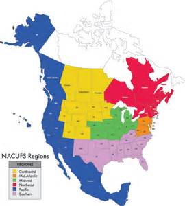 region map of nacufs regions overview