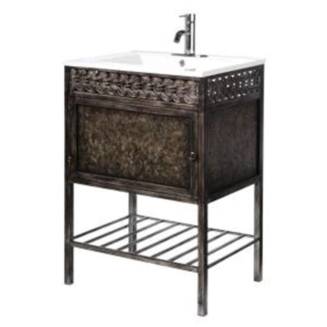Sydney Vanity by Home Decorators Collection Sydney 23 75 In W Iron Vanity
