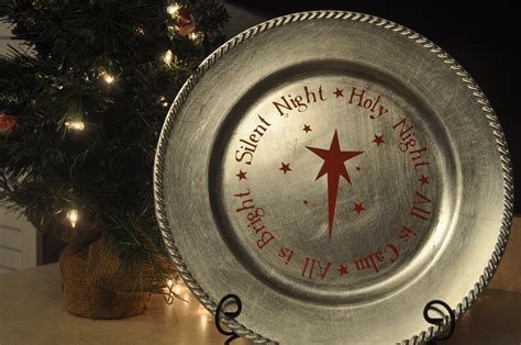 christmas decorative plate 10 charger plates pinterest