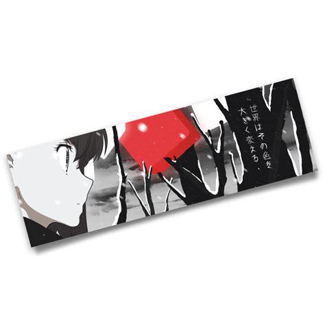 Stiker Eromanga Sensei Bahan Vinyl the world changes color heartbeat los angeles