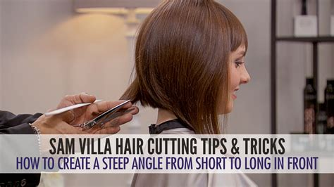 how to trim sides and back of hair how to cut hair into a steep angle and maintain length in