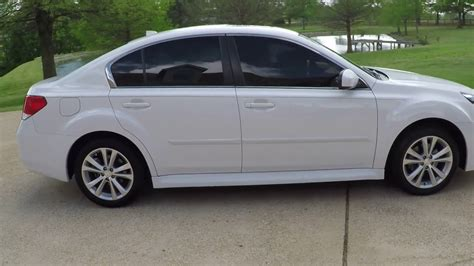 subaru sedan white hd video 2014 subaru legacy 2 5i limited awd pearl white