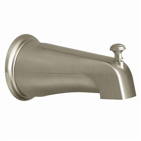 bathtub faucet with shower connection moen brushed nickel diverter spouts 3808bn moen