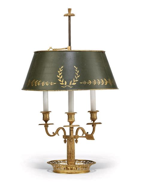 Christie Lamps a french ormolu three light lampe bouillotte of louis