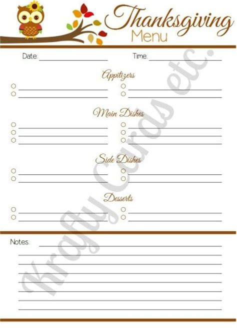 printable thanksgiving planner free printable thanksgiving menu planner momo