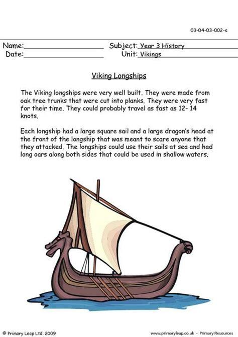 primaryleap co uk viking longships worksheet viking