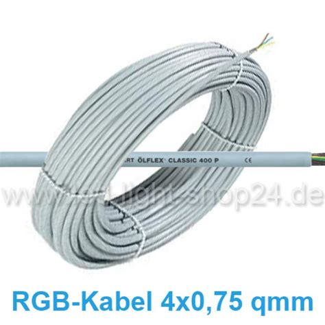 Led Kabel led rgb kabel 4x0 75 numerische kennzeichnung 1 79
