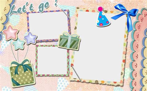 scrap book template dawb mac diam duab collage templates ntawm wondershare