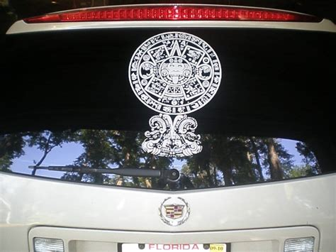Window Decals Jacksonville Fl by Mayan Aztec Calendar Decal Yelp