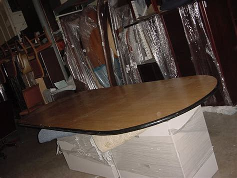 10 x 4 conference table 10 x 4 racetrack conference table used office
