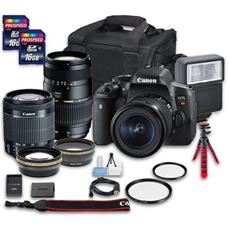 canon eos t6i dslr camera bundle with canon ef s 18 55mm f