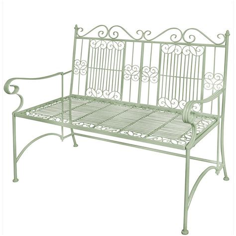 garden metal bench old rectory metal bench sage green the garden factory