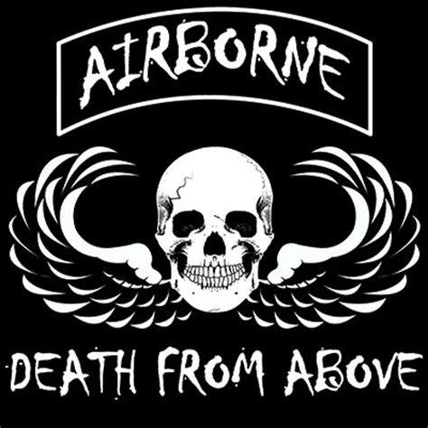 death from above tattoo airborne from above skulls